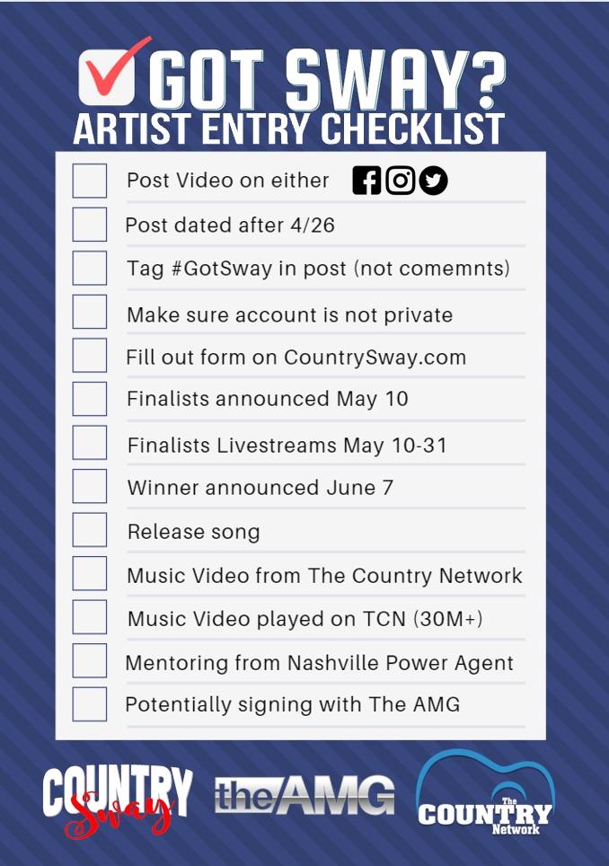 Got Sway? Artist Entry Checklist #GotSway