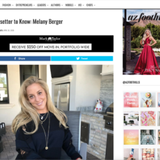 Featured Trendsetter To Know By AZ Foothills Magazine: Melany Berger